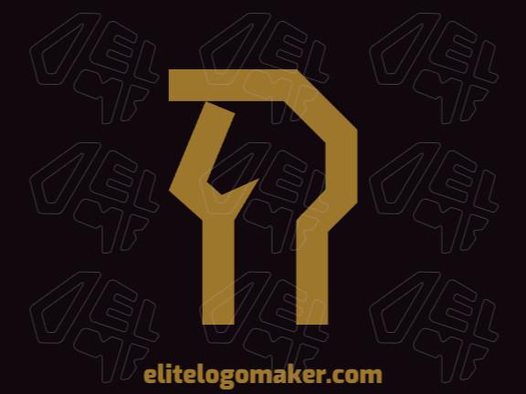 Logotipo único com a forma de um cavalo com conceito criativo e design minimalista.
