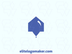 Ideal logo for different businesses, in the shape of a house combined with a balloon, with a minimalist style.