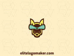 Unique logo in the shape of a kangaroo head with a creative concept and stylized design.