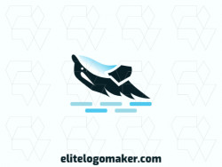 Animal logo in the shape of a killer whale ideal for any brand, the colors used in the logo is white, blue, and black.