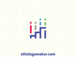 Simple logo composed of geometric shapes forming a ladder combined with a graph.
