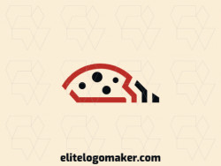 Minimalist logo in the shape of a ladybug with red and black colors, this logo is ideal for various types of business.