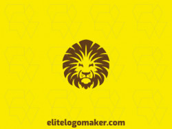 Create an ideal logo for your business in the shape of a lion head with abstract style and customizable colors.
