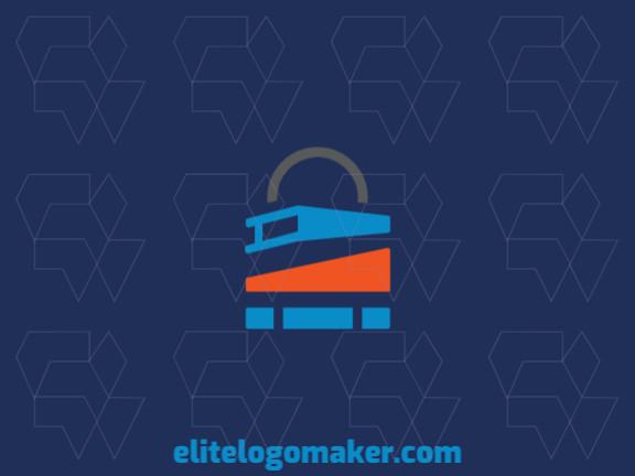Logotipo único com a forma de um livro mesclado com um cadeado com conceito criativo e design minimalista.