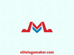 "Professional logo in the shape of a letter ""M"" combined with arrows, with creative design and minimalist style."