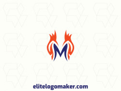 "Creative logo in the shape of a letter ""M"" combined with birds, with a refined design and minimalist style."