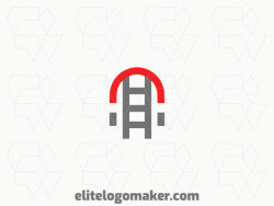 Creative logo in the shape of a magnet combined with a ladder, with a refined design and minimalist style.