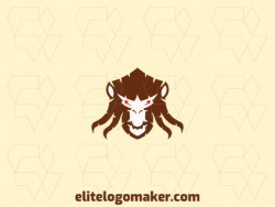 Ideal logo for different businesses in the shape of a monkey head, with creative design and abstract style.