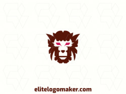 Creative logo in the shape of a monkey head with a refined design and abstract style.