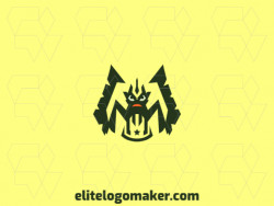 Create an ideal logo for your business in the shape of a monster with symmetric style and customizable colors.