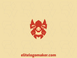 Abstract logo with a refined design forming a monster, the color used was orange.