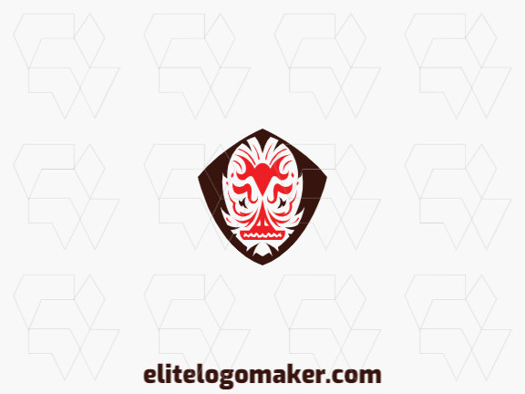 Create a memorable logo for your business in the shape of a monster with a symmetric style and creative design.