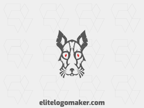 Modern logo in the shape of a mouse with professional design and abstract style.