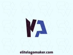 """Logo with creative design, forming a letter """"N"""" combined with a letter """"P"""", with minimalist style and customizable colors."""