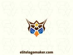 Modern logo in the shape of an owl with professional design and symmetric style.