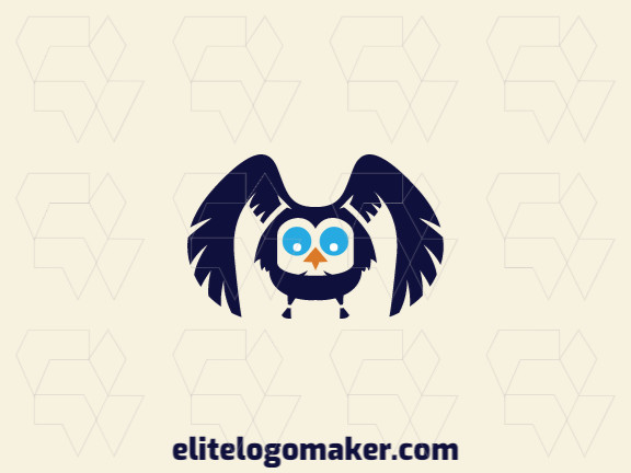 Cool logo in the shape of an owl with professional design and symmetry style.
