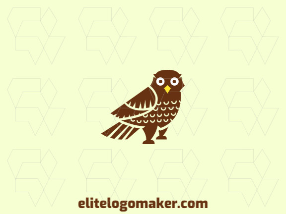 Great logo in the shape of an owl with illustrative design, easy to apply in different media.