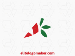 Creative logo in the shape of a pepper with a refined design and minimalist style.