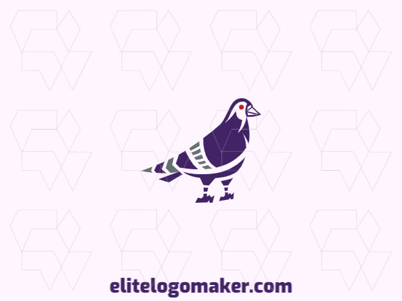 Logo ready in the shape of a pigeon composed of creative design and abstract style.
