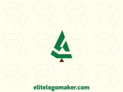 Simple logo in the shape of pine with green and brown colors, this logo is ideal for various types of company.