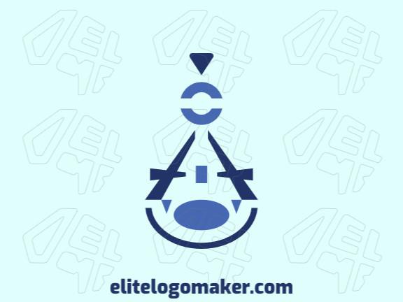 Ótimo logotipo com a forma de um compasso de precisão com design abstrato, fácil de aplicar em diferentes mídias.