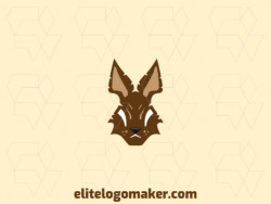 Create your online logo in the shape of a rabbit with customizable colors and mascot style.