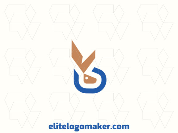 Ideal logo for different businesses in the shape of a rabbit, with creative design and minimalist style.