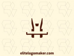 Professional logo in the shape of a rabbit, with creative design and minimalist style.