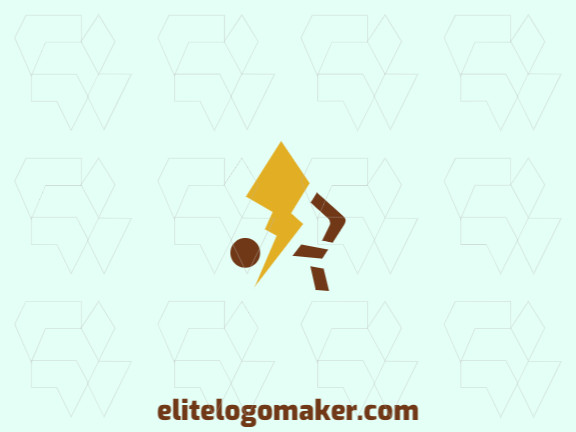 Ready-made logo in the shape of a rabbit combined with a lightning bolt formed of the creative design and minimalist style, all texts are customizable.