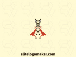 Logo ready in the shape of a rabbit composed of creative design and abstract style.