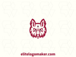 Ideal logo for different businesses in the shape of a red fox, with an abstract style.