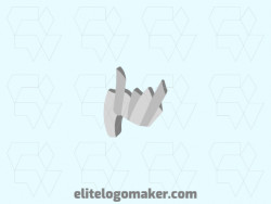Create a vector logo for your company in the shape of rhinoceros with a 3d style, the color used was grey.