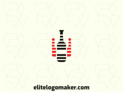 Customizable logo in the shape of a robot combined with a bottle, with creative design and abstract style.