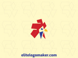 Unique logo in the shape of a rooster head with a creative concept and minimalist design.