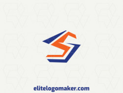 """Create an ideal logo for your business in the shape of a letter """"S"""", with initial letter style and customizable colors."""