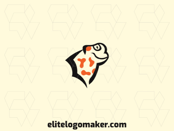 Animal logo in the shape of a salamander head with black and orange colors, this logo is ideal for various types of business.