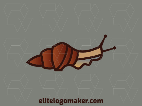 Create an ideal logo for your business in the shape of a snail with gradient style and customizable colors.