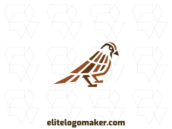 Create a memorable logo for your business in the shape of a sparrow, with abstract style and creative design.