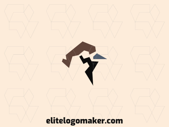 Great logo in the shape of a sparrow with minimalist design, easy to apply in different media.