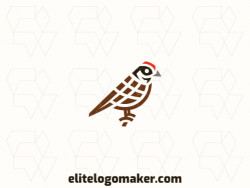 Logo in the shape of a sparrow, this logo is ideal for different business areas.