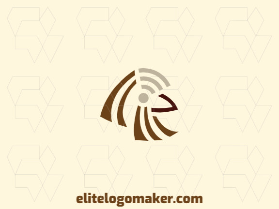 Ready-made logo in the shape of a sparrow combined with a wifi icon formed of the original design and abstract style, all texts are customizable.