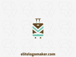 Customizable logo in the shape of a suitcase with creative design and abstract style.