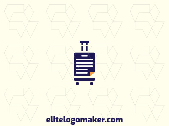 Modern logo in the shape of a suitcase combined with a document, with professional design and abstract style.