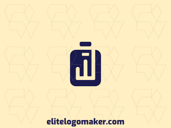 Customizable logo in the shape of a suitcase, with creative design and minimalist style.