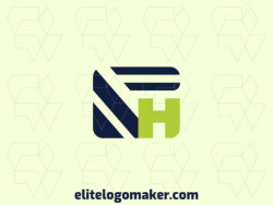 "Professional logo in the shape of a toucan combined with a letter ""H"", with creative design and minimalist style."