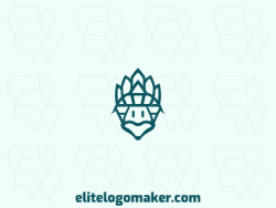 Modern logo in the shape of a turtle, with professional design and symmetric style.