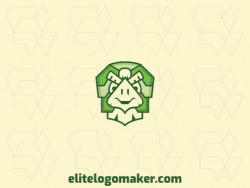 Logo ready in the shape of a turtle composed of creative design and stylized style.
