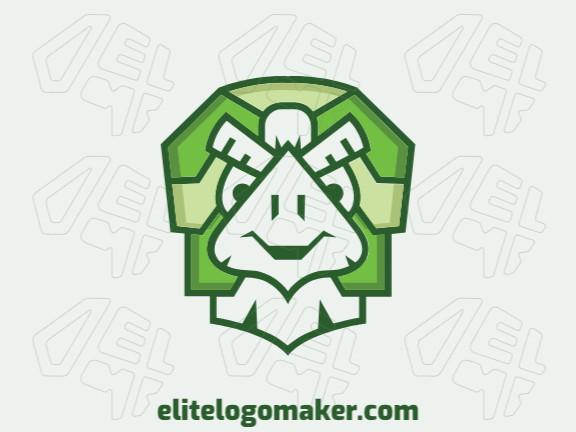 Logotipo moderno grátis com a forma de uma tartaruga com design profissional e estilo criativo.