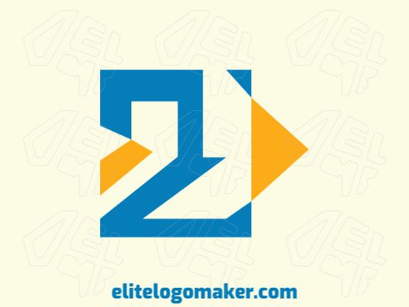 Logotipo  com a forma de dois pássaros composto por um design criativo e estilo abstrato.