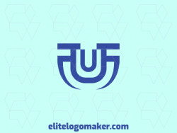 "Ideal logo for different businesses in the shape of a letter ""U"", with a simple style."